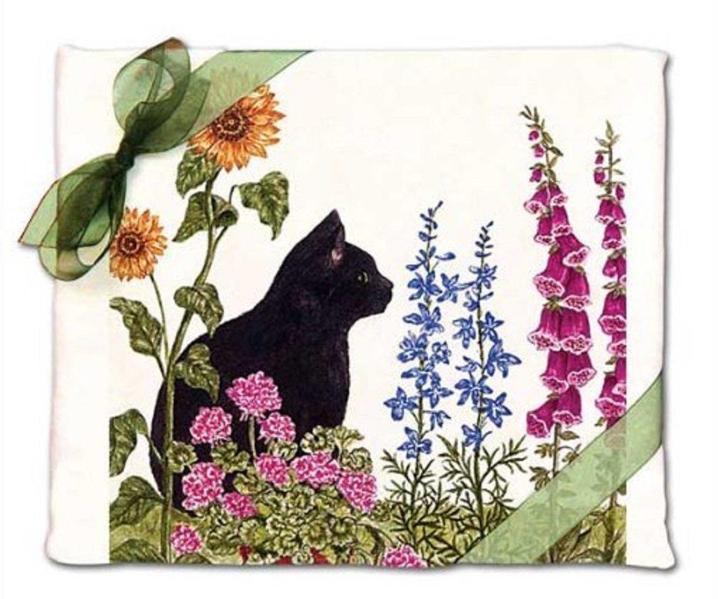 Alice's Cottage Black Cat Flour Sack Kitchen Towels (set of 2)