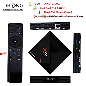 Amazoncom Dhong X99 Android Tv Box Google Voice Remote Control