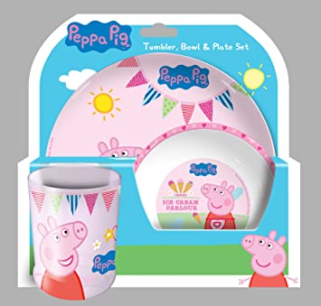 Character Peppa Pig Tea Party Dinner-Set  sc 1 st  Amazon.com & Amazon.com: Character Peppa Pig Tea Party Dinner-Set: Toys \u0026 Games