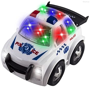 wolvol electric police car toy for kids with stunning 3d lights and sirens also has