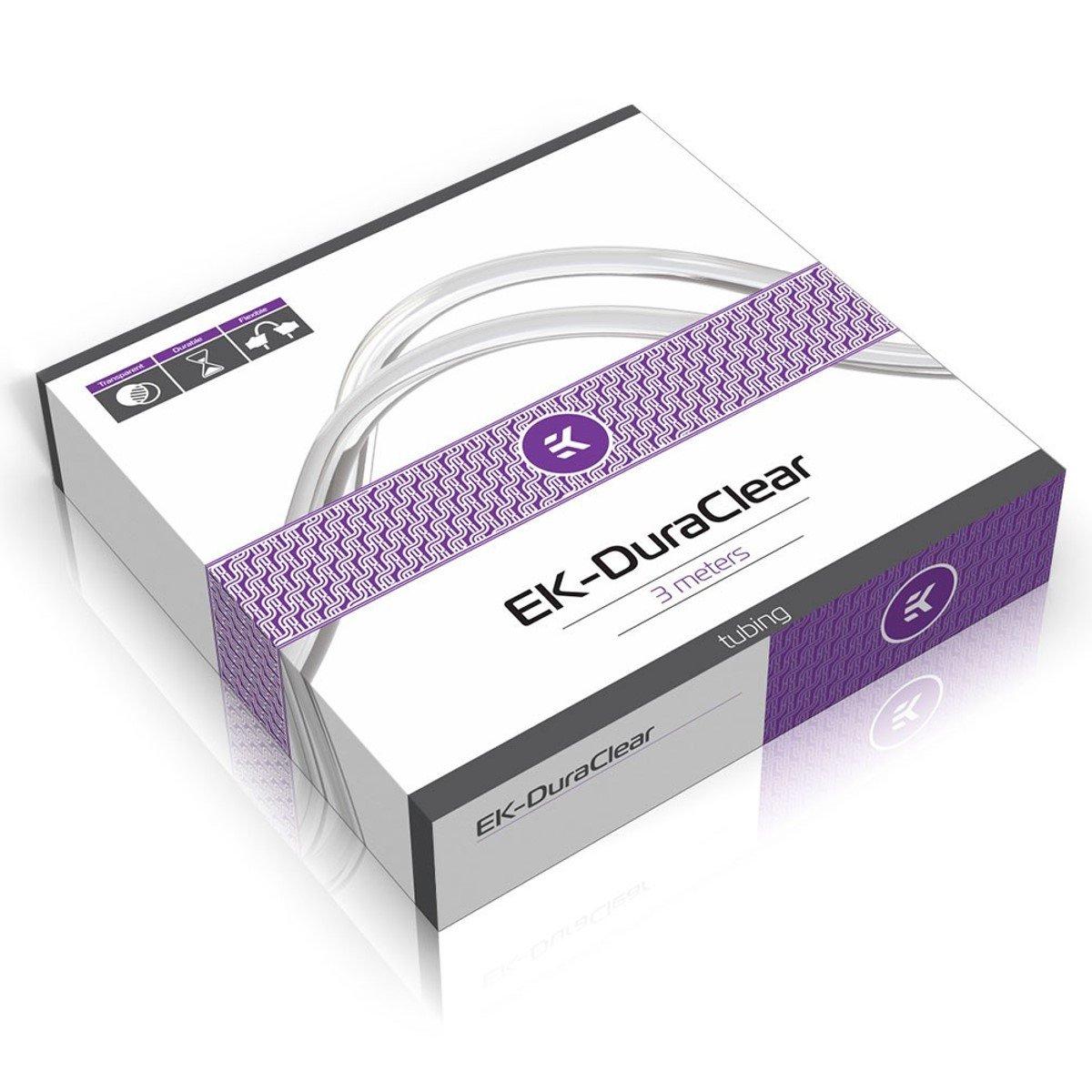 EKWB EK-DuraClear Soft Tubing, 10/16mm (3/8'' ID, 5/8'' OD), 3 Meter, Clear