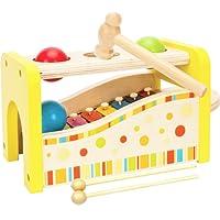 Toys of Wood Oxford Giocattolo musicale Hammer and Balls - xilofono giocattolo in legno - Giocattolo da banco musicale per bambini