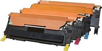 TONER EXPERTE® 4 Cartuchos de Tóner compatibles para Samsung CLP ...