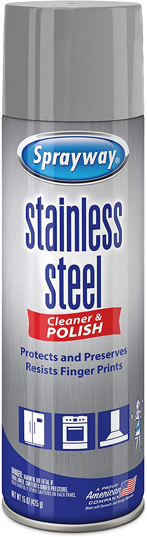 Sprayway SW148R Water-Based Stainless Steel Cleaner, 15 oz.