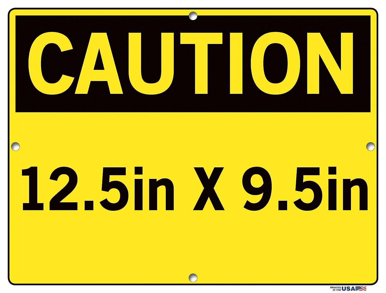 Vestil Caution Sign SI-C-16-B-AL-063-S Aluminum .063 Overall Size 12.5W x 9.5H NO Smoking Battery Charging Area NO FUMAR /ÁREA DE CARGA para BATER/ÍAS