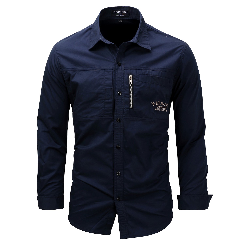 K-Men Men's Quick-Dry Long/Short Sleeve Fishing Shirts for Work Travel Military