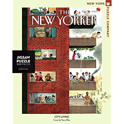 New York Puzzle Company - New Yorker City Living - 500 Piece Jigsaw Puzzle: Toys & Games