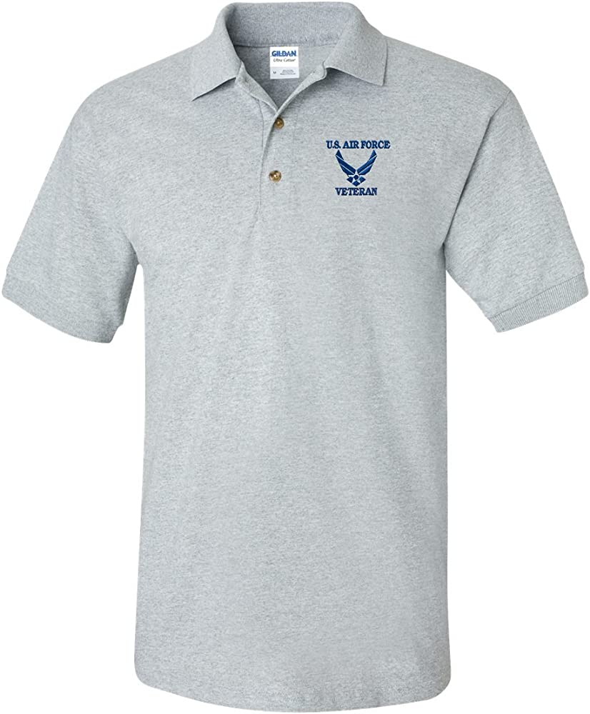 US AIR Force Veteran Custom Personalized Embroidery Embroidered Golf Polo Shirt