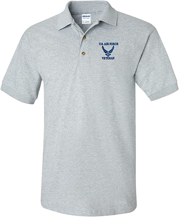 45c1000c US AIR FORCE VETERAN Custom Personalized Embroidery Embroidered Golf Polo  Shirt at Amazon Men's Clothing store: