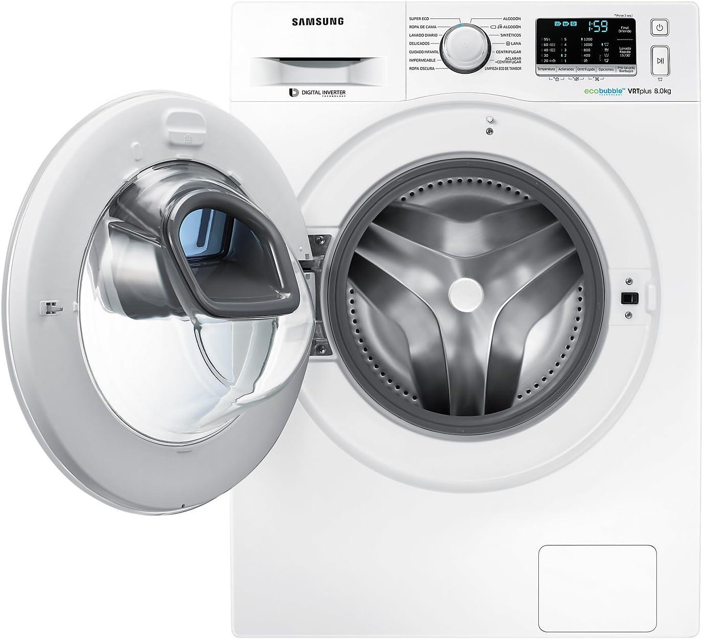 Samsung WW80K5210XW Independiente Carga frontal 8kg 1200RPM A+++ ...