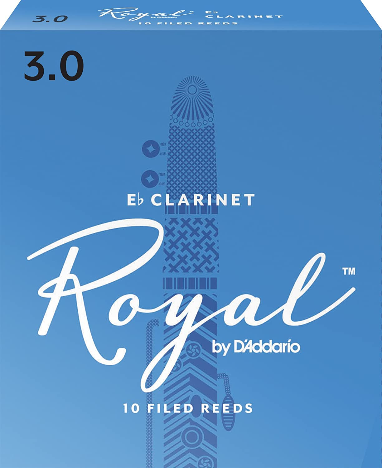 Rico Anches Rico Royal pour clarinette mi bémol, force 3.0, pack de 10 D' Addario Ltd RBB1030