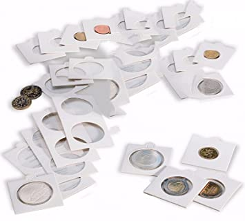 New 100 Self Adhesive Coin Holders 17.5mm