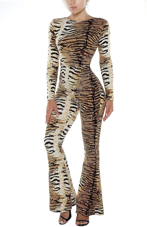 Tiger Silhouette Printed Baby Jumpsuit Long Sleeve Rompers Black