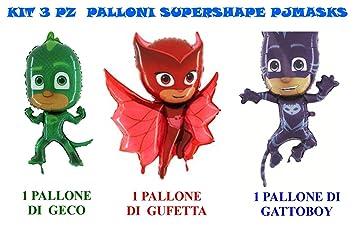 Casa Dolce Casa - Juego de 3 globos con los personajes de PJ Masks (Gatuno