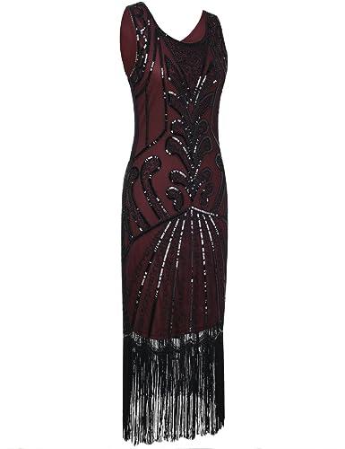 PrettyGuide Mujeres 1920s Vintage Rosario Art Deco inspirado Vestido Cocktail Flapper: Amazon.es: Ropa y accesorios