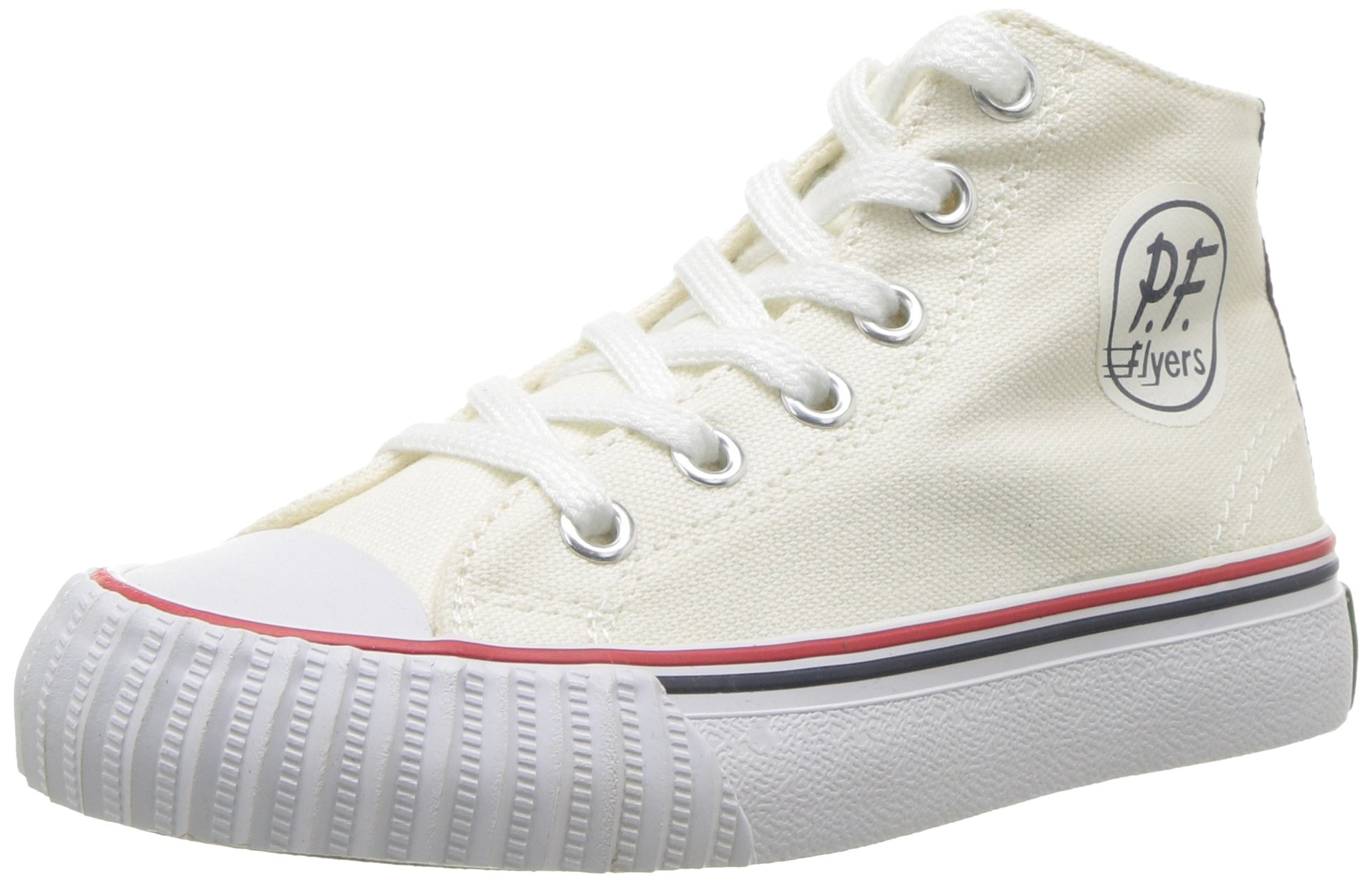 PF Flyers Boys' KC2001WT, White, 3.5 Medium US Little Kid