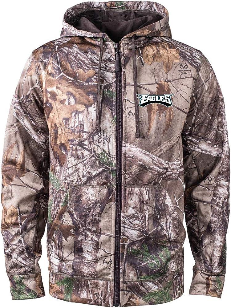 NFL Dunbrooke Camo Trophy Xtra Tech Fleece Full Zip hoodie