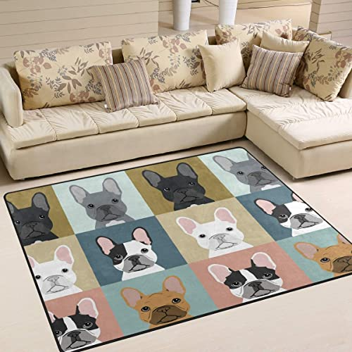 French Bulldogs Area Rug 5'x 7'