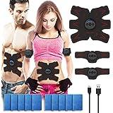 VAVACO 腹筋ベルト EMS 腹筋トレーニング フィットネスマシン ダイエット 腹筋トレ お腹 腕 腹筋器具 男女兼用 8段階調節 6モード ジェルシート10枚追加(5袋X2枚)