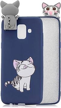 HopMore Compatible pour Coque Samsung Galaxy J6 2018 Silicone Souple (Kickstand) Motif Drôle Kawaii 3D Etui Samsung J6 2018 Antichoc Mince Fine Housse ...