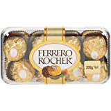 Ferrero Rocher 16 Pieces Gift Box 200G- Combined With 2 Natural Yellow Led Diya