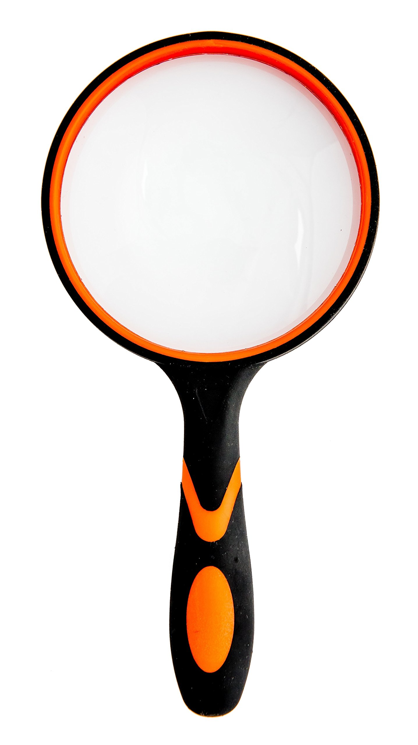 Professional Magnifying Glass 3.95 Inch Large- 3X Handheld Magnifier with Non-Slip Soft Rubber Handle for Reading, Observing Hobbies, Outdoor Exploring Fun.