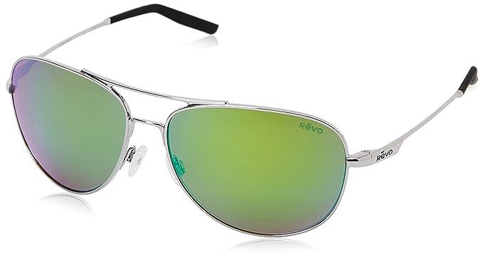 Revo Gafas de sol gafas velocidad del viento Cromado polarizadas gris cristal