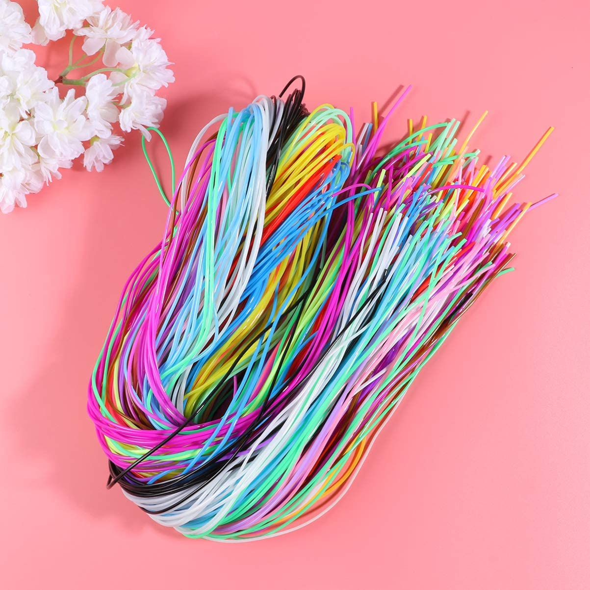 SUPVOX Plastic Lacing Cord String Braided Rope DIY Art Toy for Child Kids 200pcs