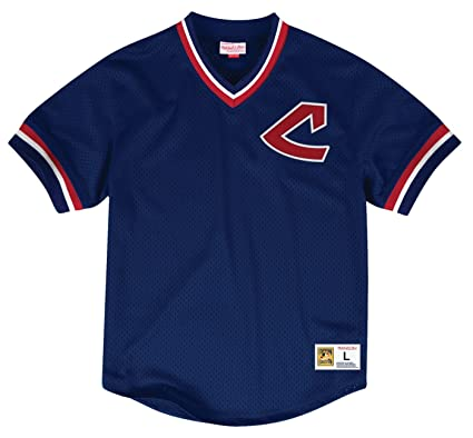 Cleveland Indians Mitchell   Ness MLB Men s  quot Team Win quot  Mesh  Jersey Shirt 6ed119e1c
