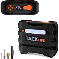 TACKLIFE 12V DC Car Tire Inflator Air Compressor Portable Multifunctional Tire Pump for Car Tires Bike Tires and Other…