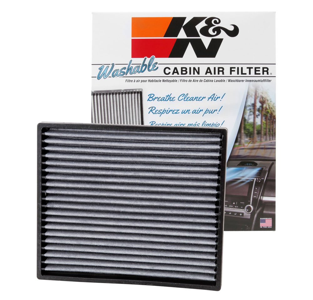 K&N VF2003 Washable & Reusable Cabin Air Filter Cleans and Freshens Incoming Air for your Toyota by K&N
