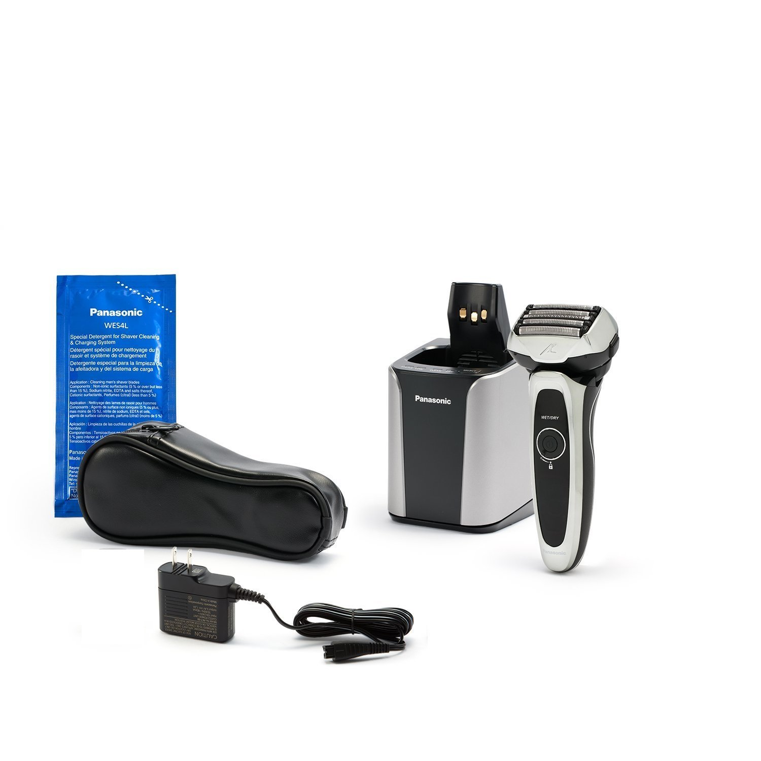Panasonic ES-LV95-S Arc5 Electric Razor, Men's 5-Blade Cordless with Shave Sensor Technology and Wet/Dry Convenience, Premium Automatic Clean & Charge Station Included by Panasonic (Image #4)