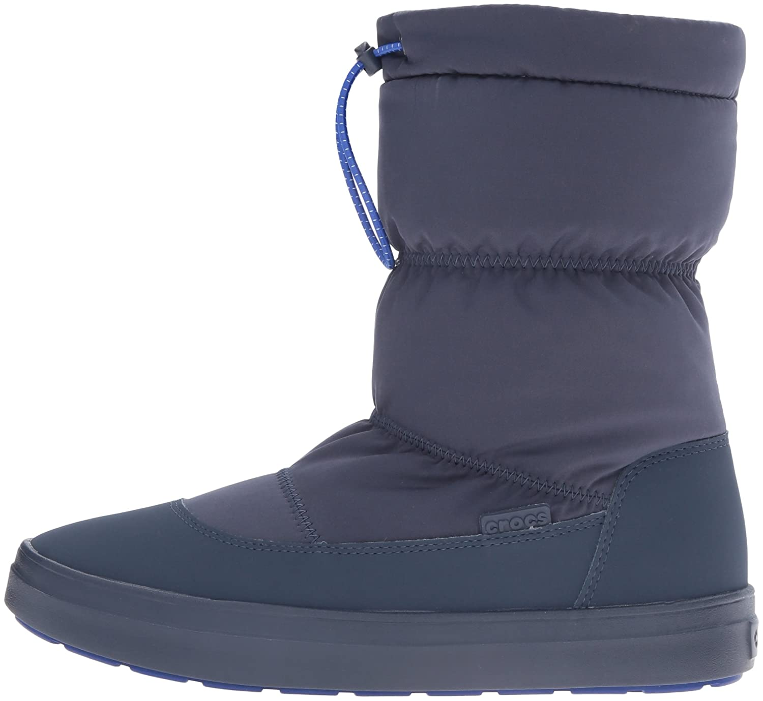 Crocs Women's Lodge Point Pull-On Snow Boot B01A6LMT6K 9 B(M) US|Navy
