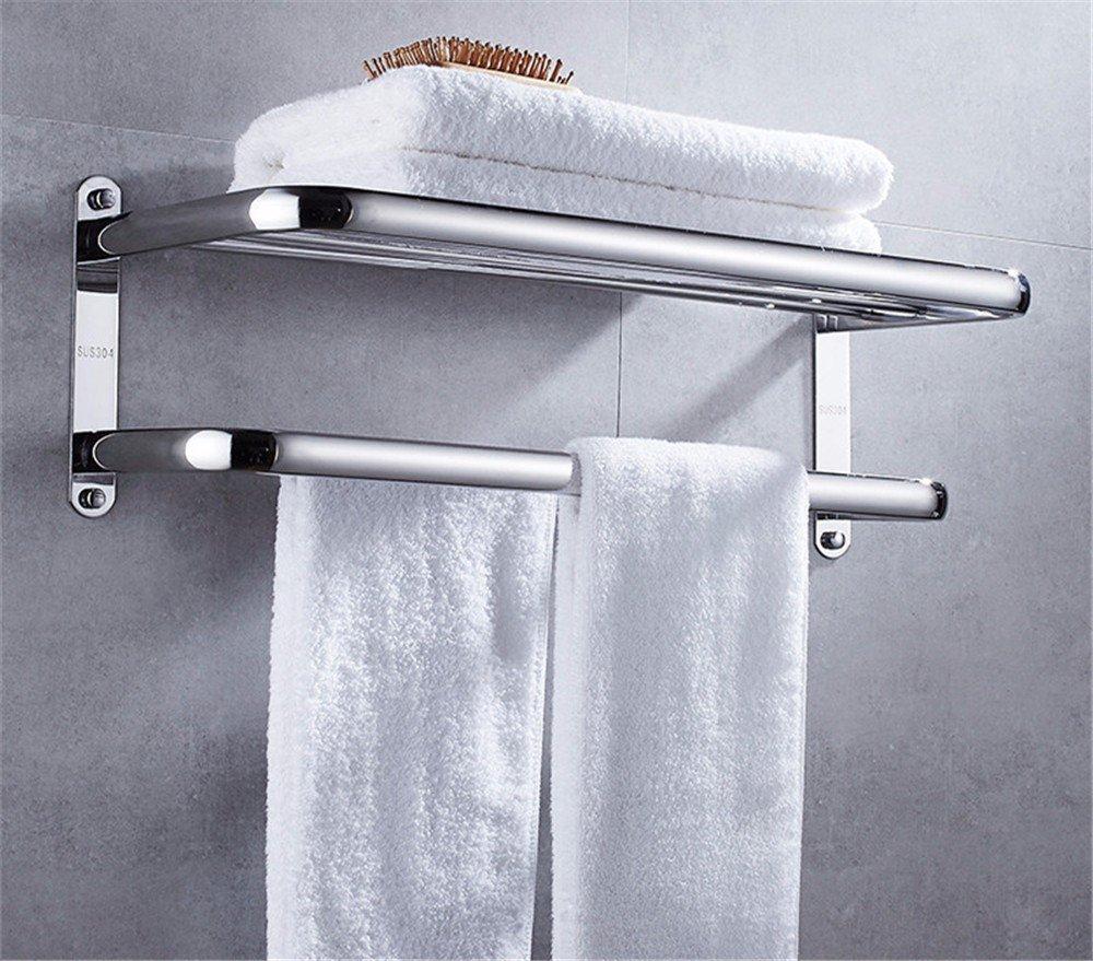HOMEE Heavy Stainless Steel Bathroom Towel Rack Bathroom Rack Hardware Pendant,60cm