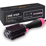 Hair Dryer Brush, REBUNE Dry, Straighten & Curl One Step Hair Dryers with Negative Ion for Reducing Frizz and Static