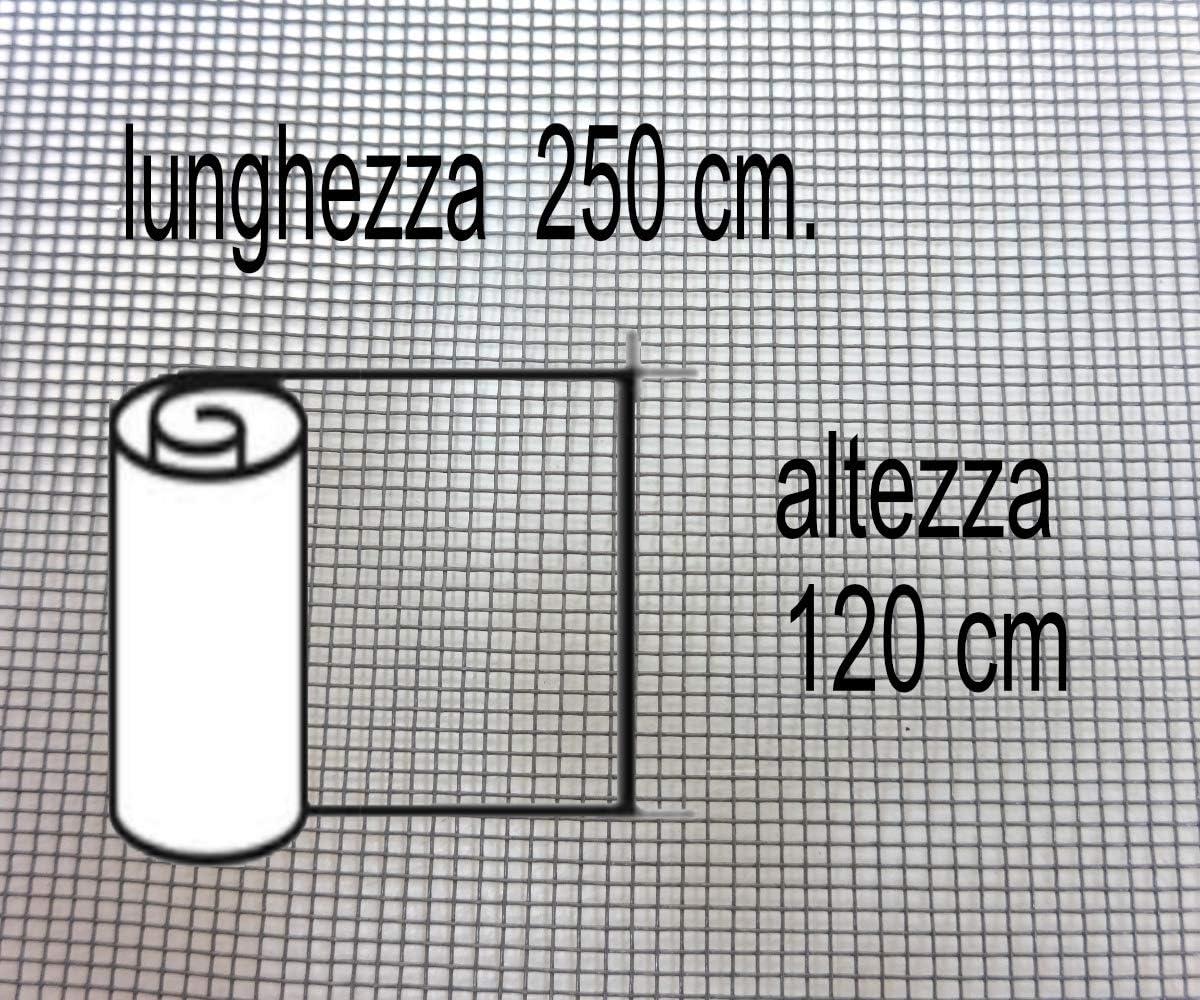 Grigio IRIS IRS Clarissa Net Fibra Zanzariera avvolgibile Misura 80x250 cm