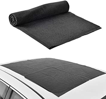 "Foldable Cuttable Thick PVC Protection Pad with Extra Cushioning for Protecting Car Roof Carrier Bags /& Car Roof Universal Roof Rack Pad 34/"" x 43/"" HONUTIGE Roof Cargo Bag Protective Mat"