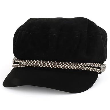 963c1ef97d4a5 Trendy Apparel Shop Baker Boy Style Cabbie Rope Band Velvet Fiddler Cap -  Black