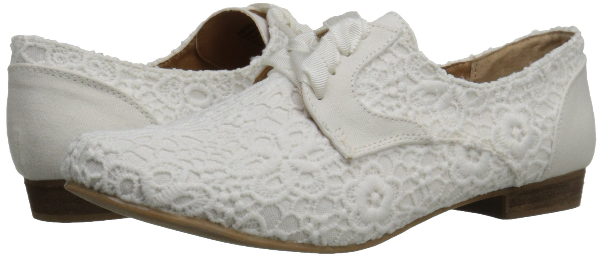 Not Rated Women's Eagle Eye Oxford, White, 7 M US by Not Rated (Image #6)
