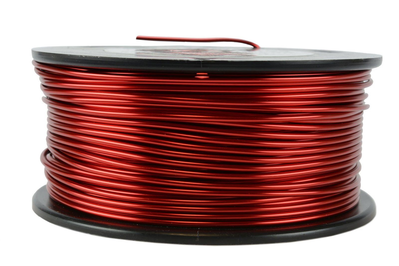TEMCo 14 AWG Copper Magnet Wire - 1.5 lb 119 ft 155°C Magnetic Coil Red