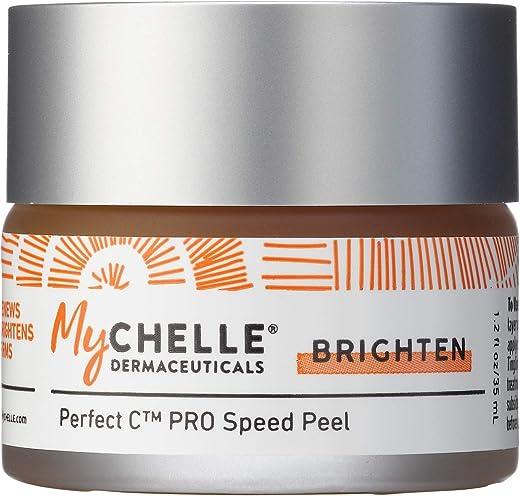 MyChelle Dermaceuticals Perfect C Pro Speed Peel-Facial Peel Exfoliant, Skin Brightening Treatment for All Skin Types, Vegan & Cruelty Free, 1.2 Fl Oz