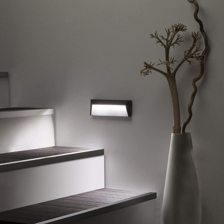 LEDKIA LIGHTING Baliza LED de Superficie Chester IP65 1.5W Gris Blanco Frío 6000K: Amazon.es: Iluminación