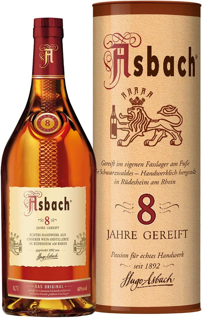 Asbach Privatbrand 8 Years 40% - 700 ml in Giftbox: Amazon.es ...