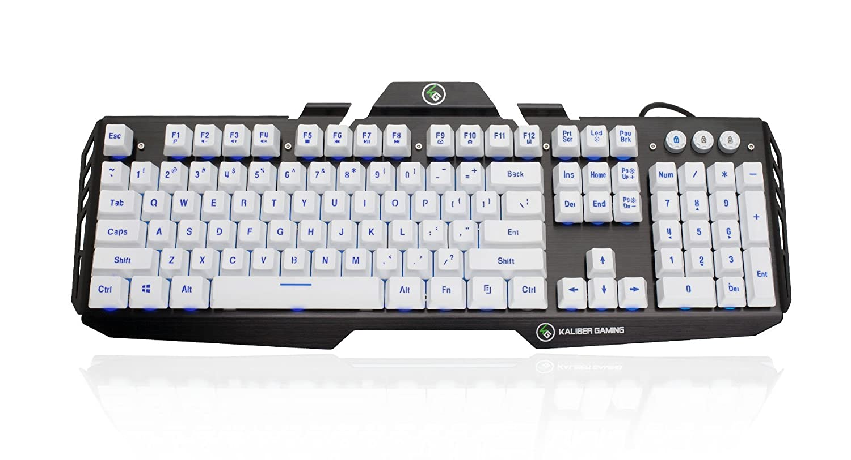 Iogear Kaliber Gaming HVER Aluminum Gaming Keyboard - Imperial White GKB704L-WT
