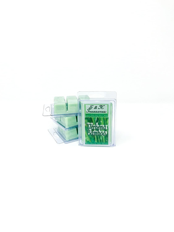 6 cubes Pure Soy Wax Melts 1 pack Natural Scents Verbena Bamboo