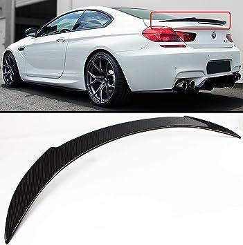 For BMW F06 640i 650i M6 Gran Coupe 4Door Rear Trunk Spoiler Wing Carbon Fiber