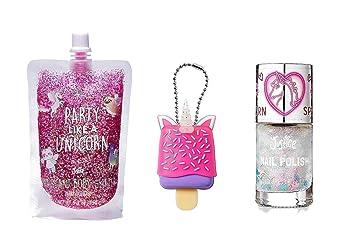 Amazon.com  Justice For Girls Unicorn Lip Gloss Glitter Gel
