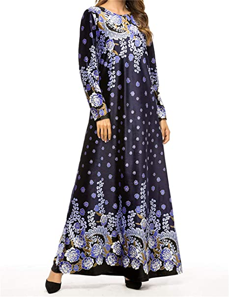 Qianliniuinc Vestiti Taglie Forti Maxi Dress-Lunga Abiti Femminili Abaya  Islamico Kaftano Donna Caldo Arabo Costume  Amazon.it  Abbigliamento 7b06b0c4b1a