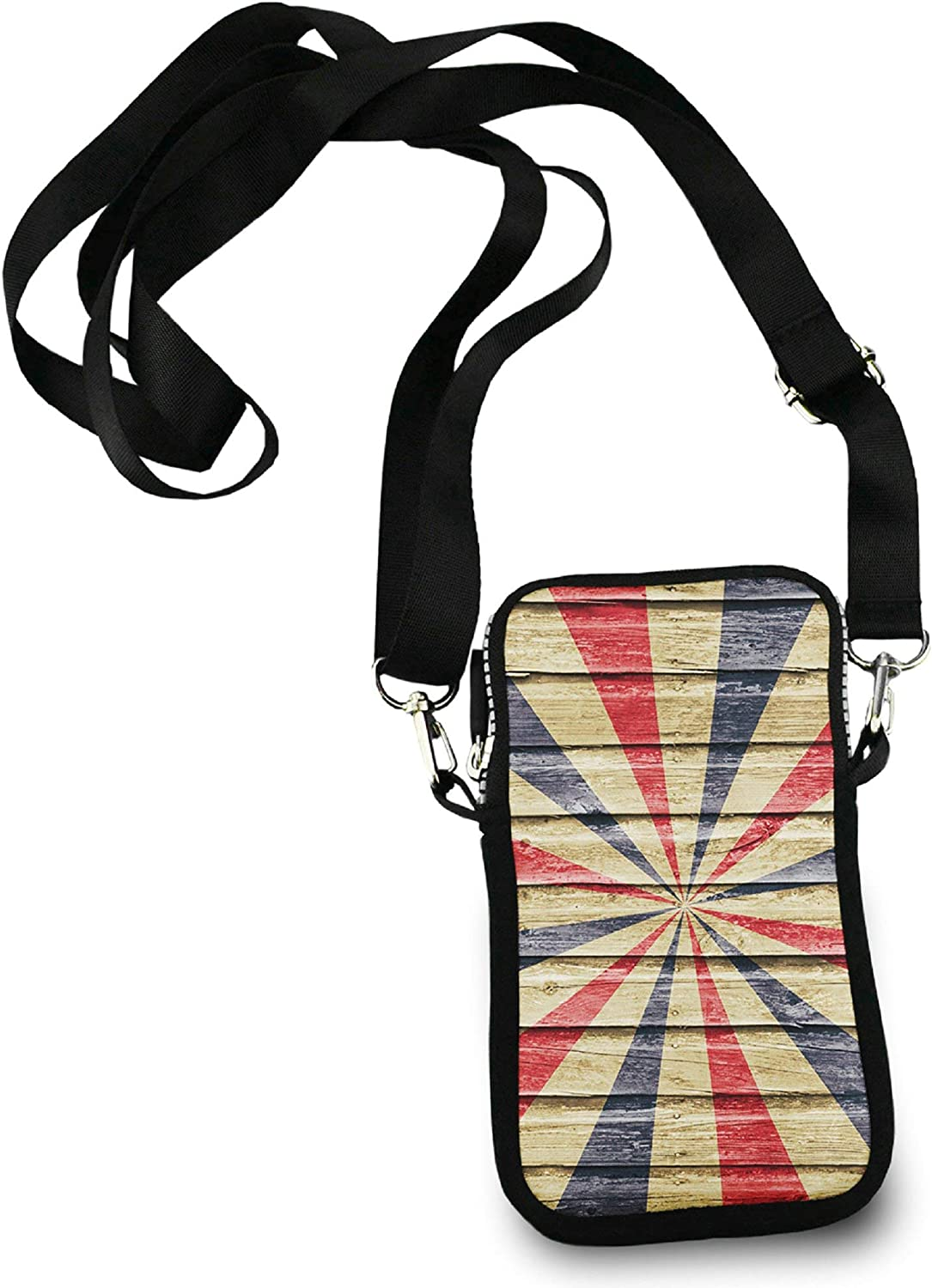 Casual Security Pack Crossbody Phone Pouch With Shoulder Strap Wallet Handbag tie dye