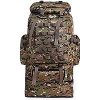 Internal Frame Camping & Hiking Backpacks 100 Liters Large Capacity Canvas Outdoor Backpack Hiking Camping Hiking…